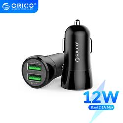 ORICO 2 USB Mini Car Charger 12W Max Dual USB Charging Universal Fast Car Charger Adapter For iPhone Samsung Huawei Xiaomi Htc