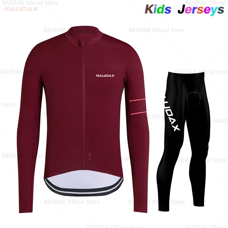 2019 Spring/Autumn Kids Cycling Jersey Set Maillot Ropa Ciclismo Quick Drying Boys Long Sleeve Bike Set Solid Color Bike Uniform|Cycling Sets| |  - title=