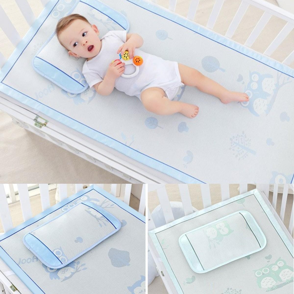 New Summer Baby Ice Silk Mats Kindergarten Mat Baby Crib Breathable Mat Baby Bed Mattress Baby For Bed Sleeping Cool Mattresses
