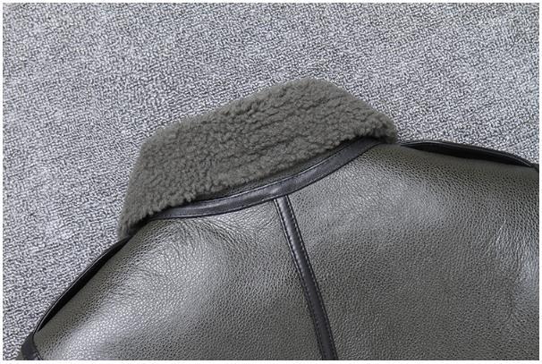 H064b720baf4441939e34f2b19bb07bdfU Free shipping,Winter natural Sheepskin thick fur coat,classic wool Shearling,warm genuine leather jacket,mens plus size outwear