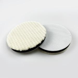 Image 2 - 5นิ้วจัดแต่งทรงผมJapan Wool Polishing PadสำหรับPolisherรถPadชุดขนสัตว์Finish Polishing Pad