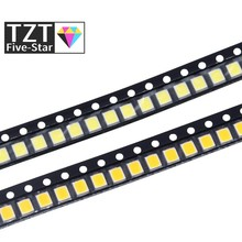 TZT 100pcs 0.2W SMD 2835 LED Lamp Bead 20-25lm White/Warm White SMD LED Beads LED Chip DC3.0-3.6V for All Kinds of LED Light
