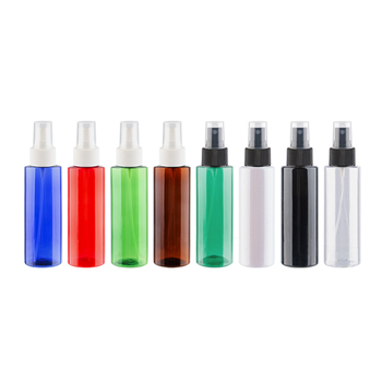 100ml Empty Refillable PET Bottle With Spray Pump Transparent White Black Mist Sprayer