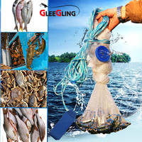 Catch Fishing Net USA Cast Net Water Hand Throw Fly Fishing Network Small Mesh Gill Net Catch Fishing Nets Tool Minnow Fish Trap