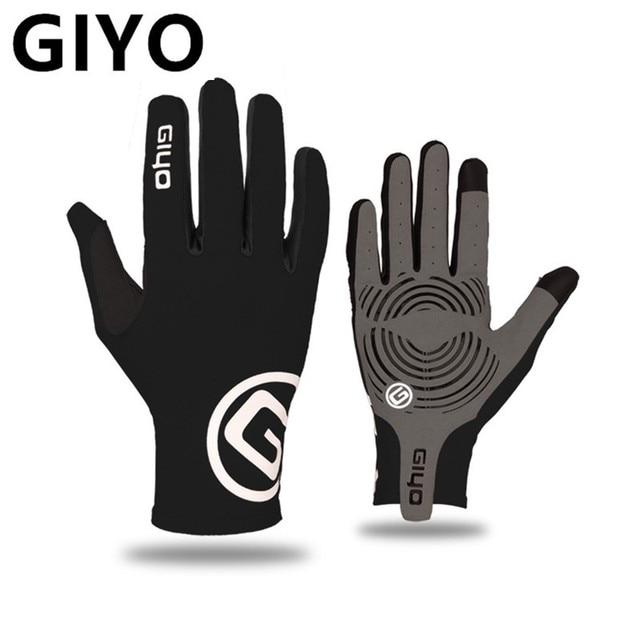Giyo luvas duras em gel para ciclismo, funciona em touch screen, de dedos completos, para bicicleta de estrada, mtb, masculina e feminina luvas, luvas 1