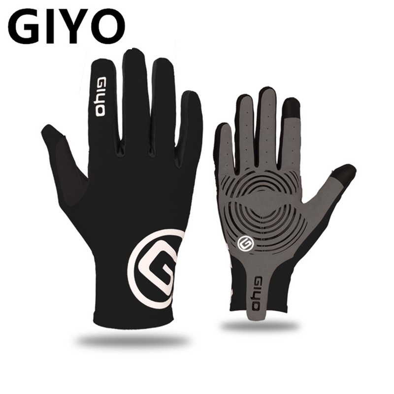 Перчатки спортивные гелевые с длинными пальцами для сенсорного экрана