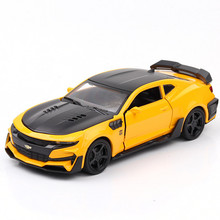1:32 Alloy Diecast Car Model Camaro With Pull Back Sound Light Kids Toy Car Collection For Childrens Gifts Toys машинки