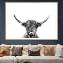 Холст Картины большой плакат с изображениями животных для детей;