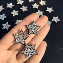 20 sztuk śliczne łatka gwiazda aplikacja ze strasem szyć na łatka na odzież sukienka łatki diy aplikacja z koralikami sweter aplikacja tanie tanio Change Tutto 1 8*2 6cm Kij na Appliqued Plastry HANDMADE Ekologiczne