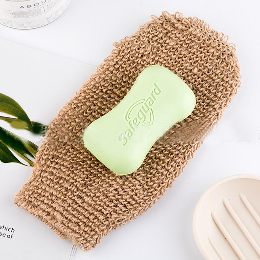 Rosalind Bath Gloves Exfoliating Towel Massage Back Shower Scrubber Hemp Body Cleaning Towel Sponges Spa Skin Cloth Solid Color