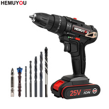 25V Impact Drill  Cordless Drill  Multi-functional Household Electric Screwdriver Power Tools 3/8(10mm) 2-Speed