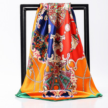 Women Square scarfj soft headband hijab scarf 90 cm x big scarves foulard femme