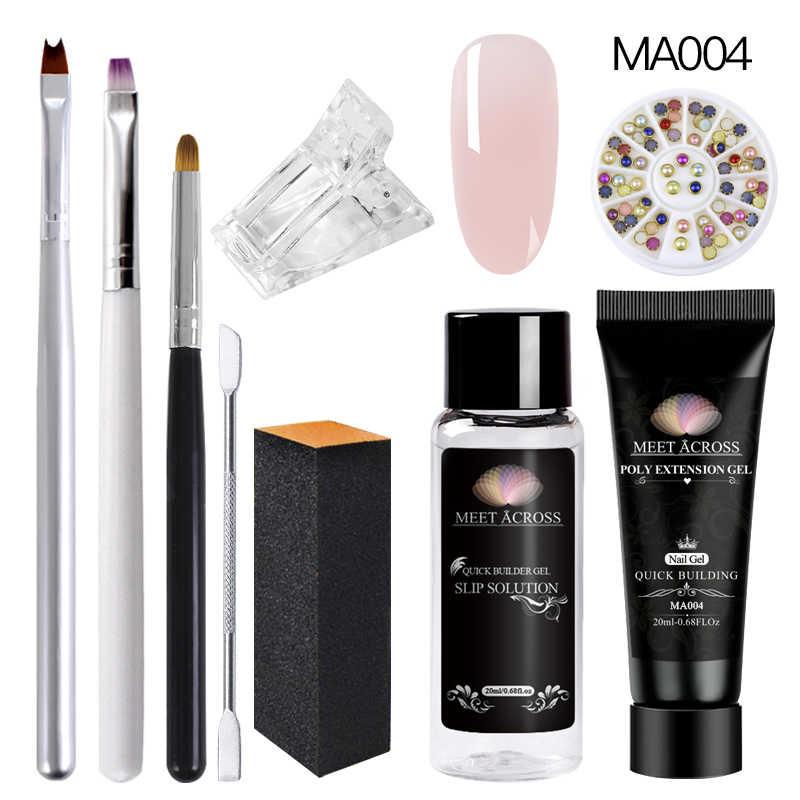 Voldoen Over Nagel Uv Gel Poly Tips Building Slip Oplossing Vloeibare Gel Set Clear Acryl Vloeistof Nail Art Manicure gereedschap