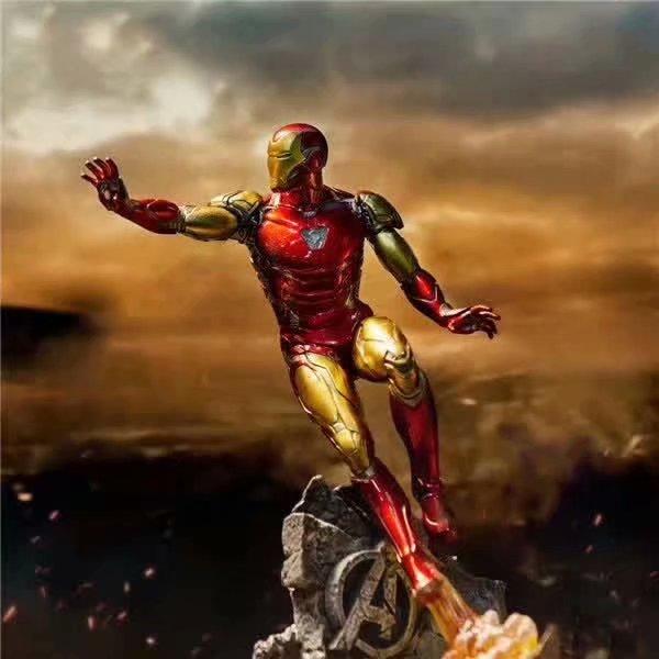 10.4 นิ้ว 26 ซม.ใหม่ภาพยนตร์ Avengers Endgame Iron Man MK50 หน้าเปลี่ยนรูปปั้น PVC Action FIGURE Collection Gift