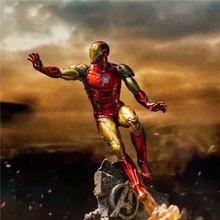 10.4 cala 26cm nowy film Avengers Endgame Iron Man MK50 twarz zmieniająca pcv statua kolekcja figurek prezent
