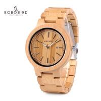 BOBO BIRD LP23 Drop Shipping Designer Bamboo Wooden Watches Men with Stainless Steel Clasp Quartz Relogio in Box|watch designer men|watch men|watch men design -