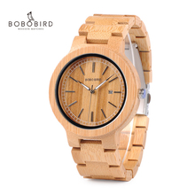 Bobo Vogel LP23 Drop Shipping Designer Bamboe Houten Horloges Mannen Met Rvs Sluiting Quartz Relogio In Doos