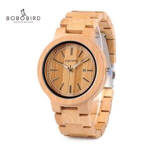 Image 1 - ボボ鳥 LP23 ドロップ無料デザイナー竹木製腕時計男性ステンレス鋼クラスプクォーツレロジオでボックス