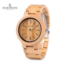 Бобо птица lp23 Прямая доставка дизайнер бамбука деревянных Часы Для мужчин с Нержавеющаясталь застежка кварц Relogio в коробке
