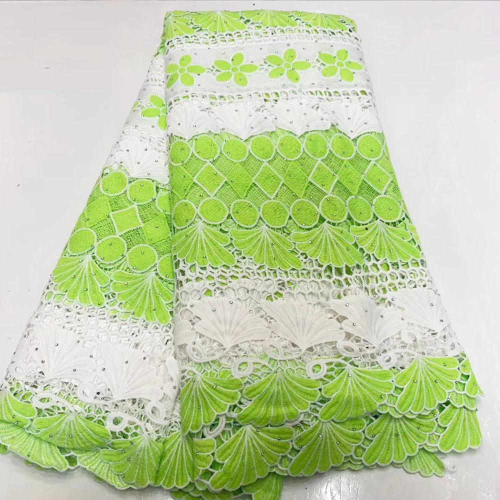 Tulle Guipure Swiss Water Soluable Lace Fabric African Lace Materials For Dress Top Quality Ankara Lace Fabric With Stones