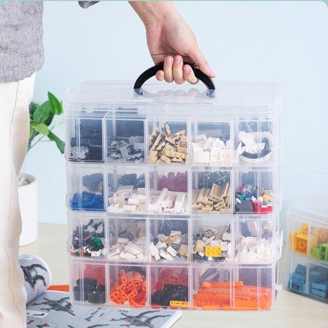 Lego Building Blocks storage Box Plastic Transparent 2