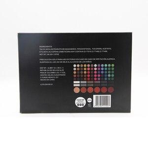 Image 5 - سانيي 78 لون عينيه لوحة مع مرآة الجمال المزجج متعدد الألوان ظلال العيون لوحة أحمر الخدود ماكياج كبير 78P04