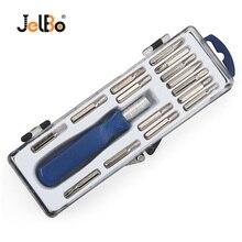 JelBo 16 в 1 прецизионный Набор отверток многофункциональный Ремонт Открытие магнит биты для шуруповерта Torx часы компьютер телефон ручной инструмент