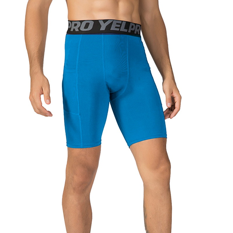 Bodybuilding Shorts Leggings Pocket Training Fitness Quick-Drying Summer Mens New