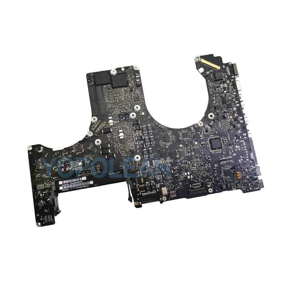 """Placa-mãe 2.0ghz cpu i7 para macbook pro, 15 """"a1286 placa-mãe placa lógica 820-2915-a mc721ll/a início 2011"""