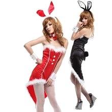 Details about  /Sexy Bunny Costume Adult Tuxedo Rabbit Halloween Fancy Dress