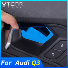Vtear For Audi Q3 Accessories 2019-2021 Inner Door Bowl Handle  Decoration Cover Interior Mouldings Auto Products Modification