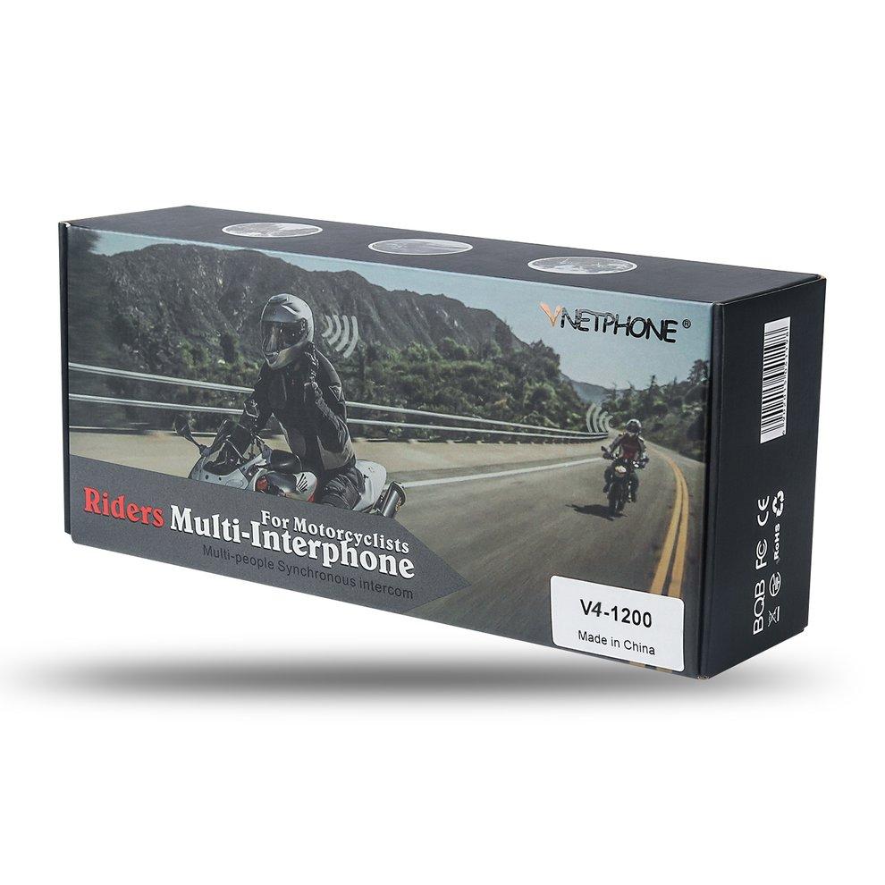 V4 Motorcycle Helmet Professional Walkie Talkie Intercom Headset Full Duplex Walkie Talkie