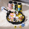 Mini Toy Storage Bag and Play Mat  Available in Multiple Patterns  Grey Cartoons Toy Bag  Storage Basket and Play Mat