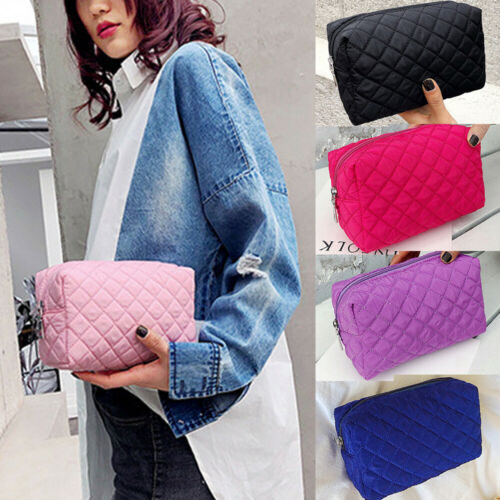 New Women Multifunction Travel Portable Cosmetic Bag Makeup Case Pouch Toiletry Organizer Storage Black Blue Pink Purple Orange
