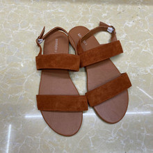 Female Shoes Women Sandals Brown Back-Strap Ladies Footwear Open-Toe Simple-Design Summer