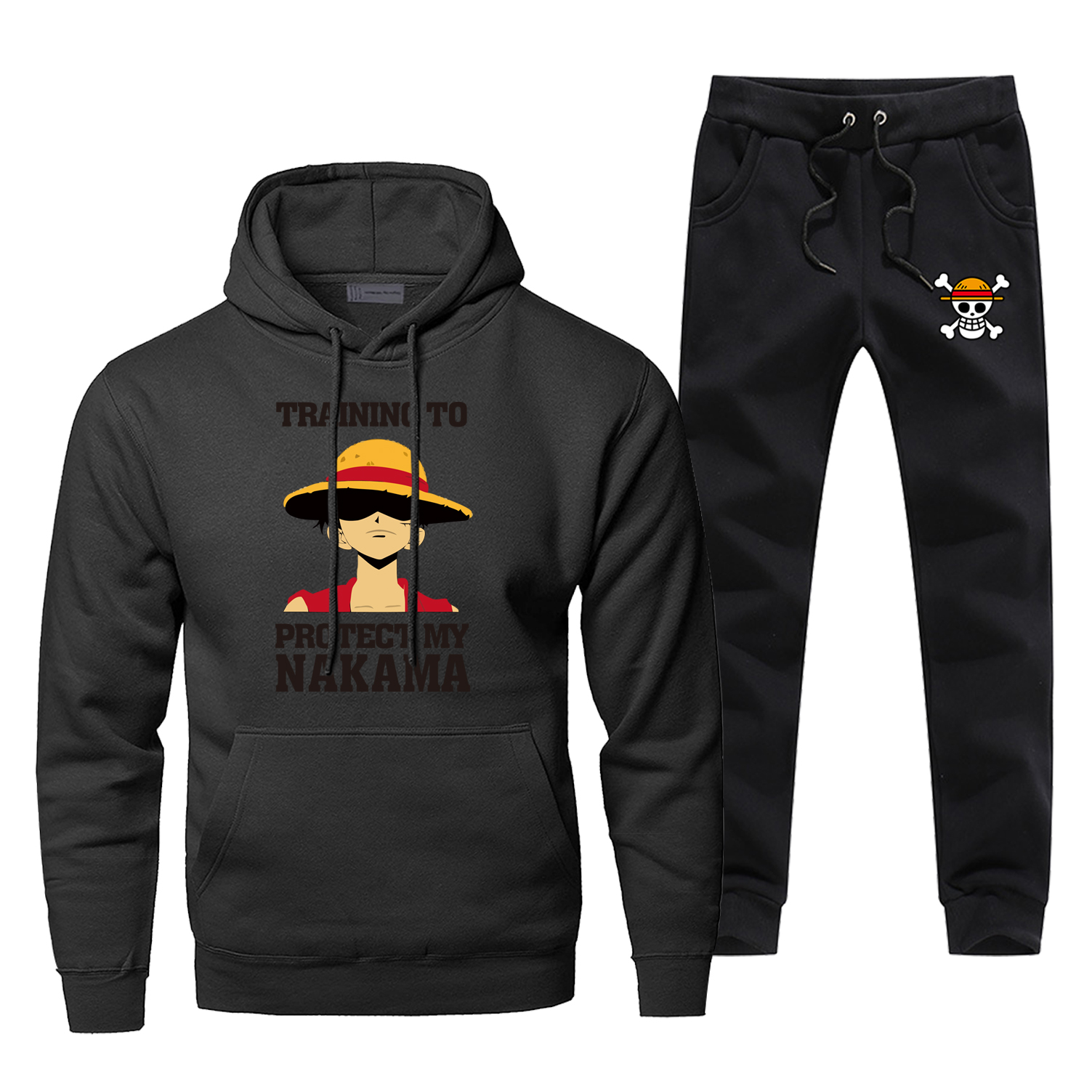 One Piece Hoodie Pants Set Luffy Men Sweatshirt Skull Male Hoodies Sweatshirts Mens Sets 2 Piece Pant Pullover Japan Anime Coat