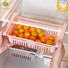 Organizador de cocina almacenaje para nevera de cocina estante de refrigerador soporte extraíble cajón organizador ahorrador de espacio