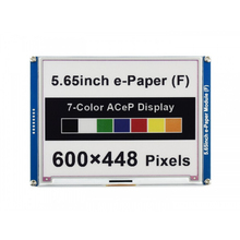Waveshare 5.65inch ACeP 7-Color E-Paper E-Ink Display Module, 600×448 Pixels