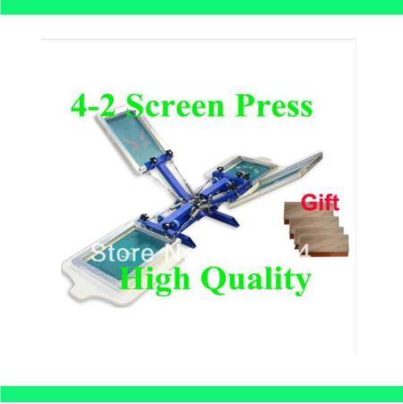 Бесплатная доставка, скидка в подарок, 4 цвета, 2 станции, шелкография, машина для печати, футболка, принтер, пресс оборудование, карусель, Рак