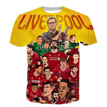 Nieuwe Populaire Liverpool Jersey 3D Print Harajuku Stijl T-shirt Koele Zomer Casual Streetwear Tees Tops(China)