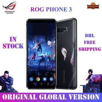 Купить ASUS ROG Phone 3 глобальная версия игровой телефон Snapdragon865plus 8/12/16RAM 256/512ROM 6000 мА/ч, 144 Гц 2SIM карты 5G ROG 3 Smaerphone
