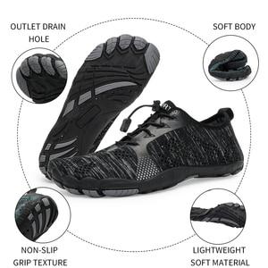 Image 4 - אקווה נעלי גברים יחפים גברים חוף נעלי לנשים במעלה הזרם נעלי הליכה לנשימה ספורט נעל מהיר יבש נהר ים מים סניקרס