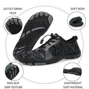 Image 4 - Zapatos acuáticos para hombre y mujer, zapatillas de playa transpirables, para deporte de senderismo, secado rápido, agua de río y Mar