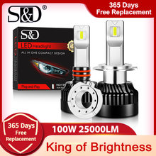 100 Вт 9005 лм h1 h11 h7 светодиодный лампы для фар canbus h4