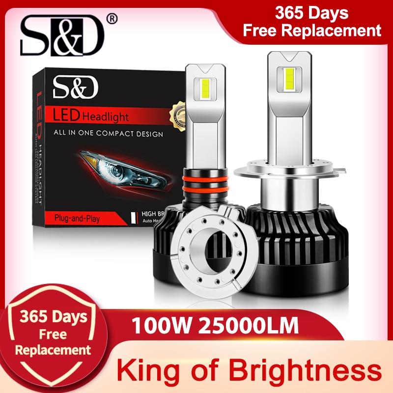 100 Вт 9005 лм H1 H11 H7 светодиодный лампы для фар Canbus H4 светодиодный H8 H9 9006 HB3 9012 HB4 300% HIR2 лампы для автомобилей ходовые огни яркие