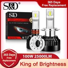 100W 25000Lm H1 H11 H4 H7 Farol Lâmpadas LED Canbus LED H8 H9 9005 HB3 9006 HB4 9012 HIR2 Carros Lâmpada Luzes de Circulação 300% Brilhante
