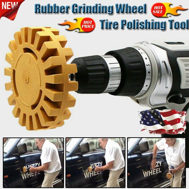 Universal Rubber Eraser Wheel For Remove Car Glue Adhesive Sticker Auto Repair Paint Tool Pneumatic Degumming Disc 3.5 Inch 88MM