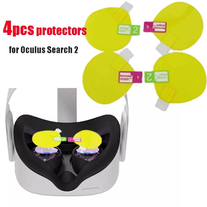 4 шт. объектив пленка для Oculus Quest 2 Очки виртуальной реальности VR Экран защитная пленка Камера Очки виртуальной реальности VR гарнитура шлем с ...