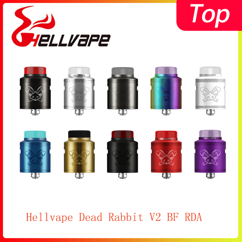 Newest Hellvape Dead Rabbit V2 BF RDA Tank 510 Thread & Support Single/dual Coil Electronic Cigarette Vape Tank Vs Ammit Dual