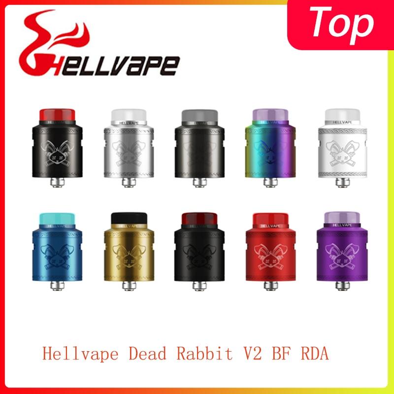 Newest Hellvape Dead Rabbit V2 BF RDA Tank 510 Thread & Support Single/dual Coil Electronic Cigarette Vape Tank Vs Ammit Dual